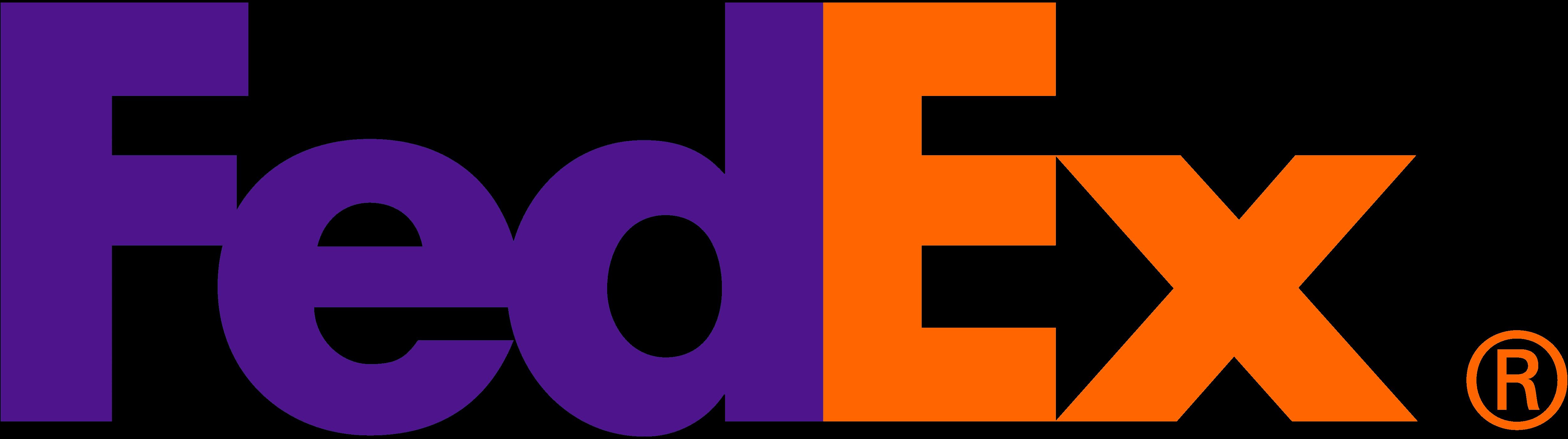 FedEx logo orange purple